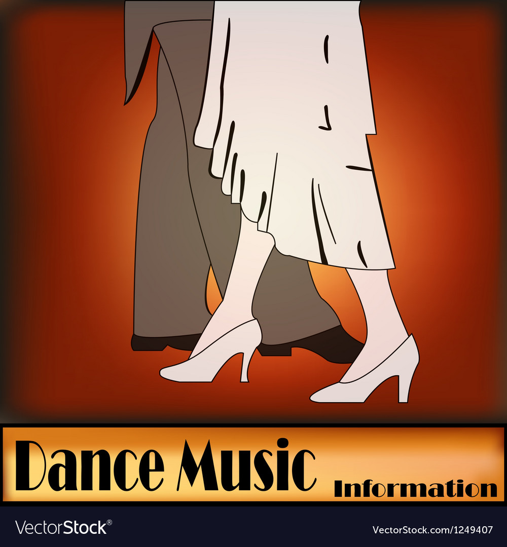 Deco ballroom dance vector