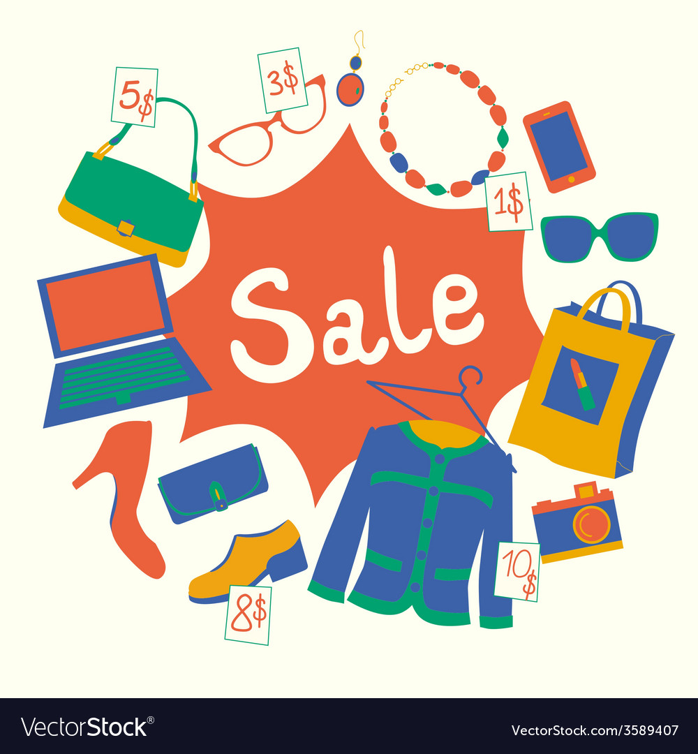 Garage sale vector