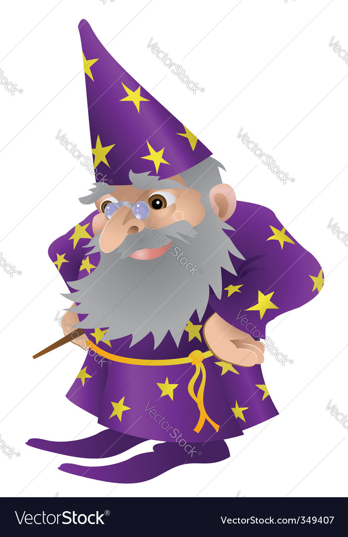 Wizard cartoon vector