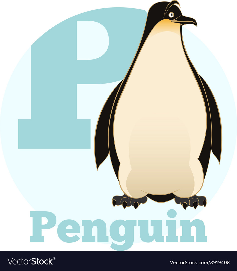 Abc cartoon penguin vector