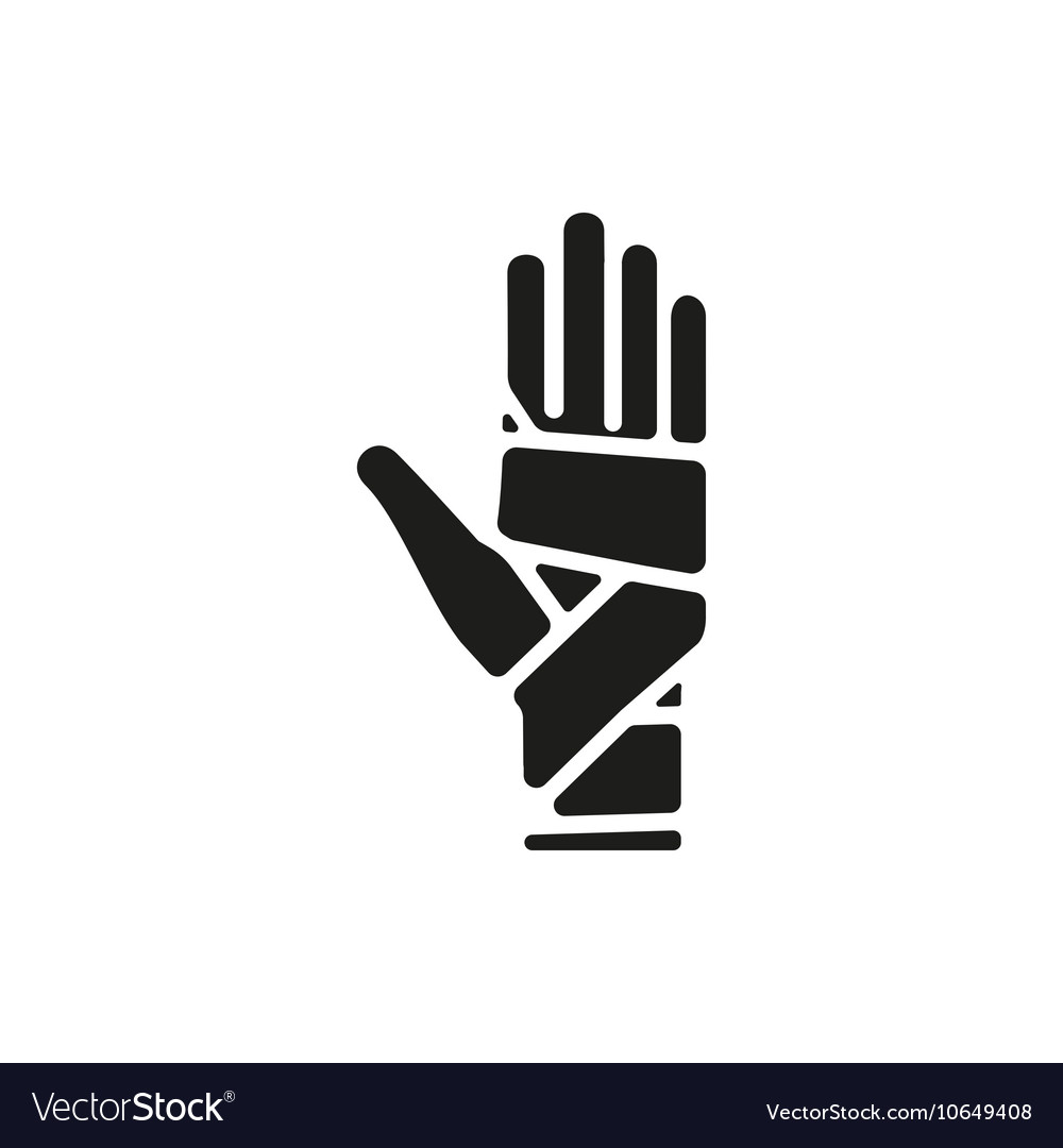 Hand bandaging vector