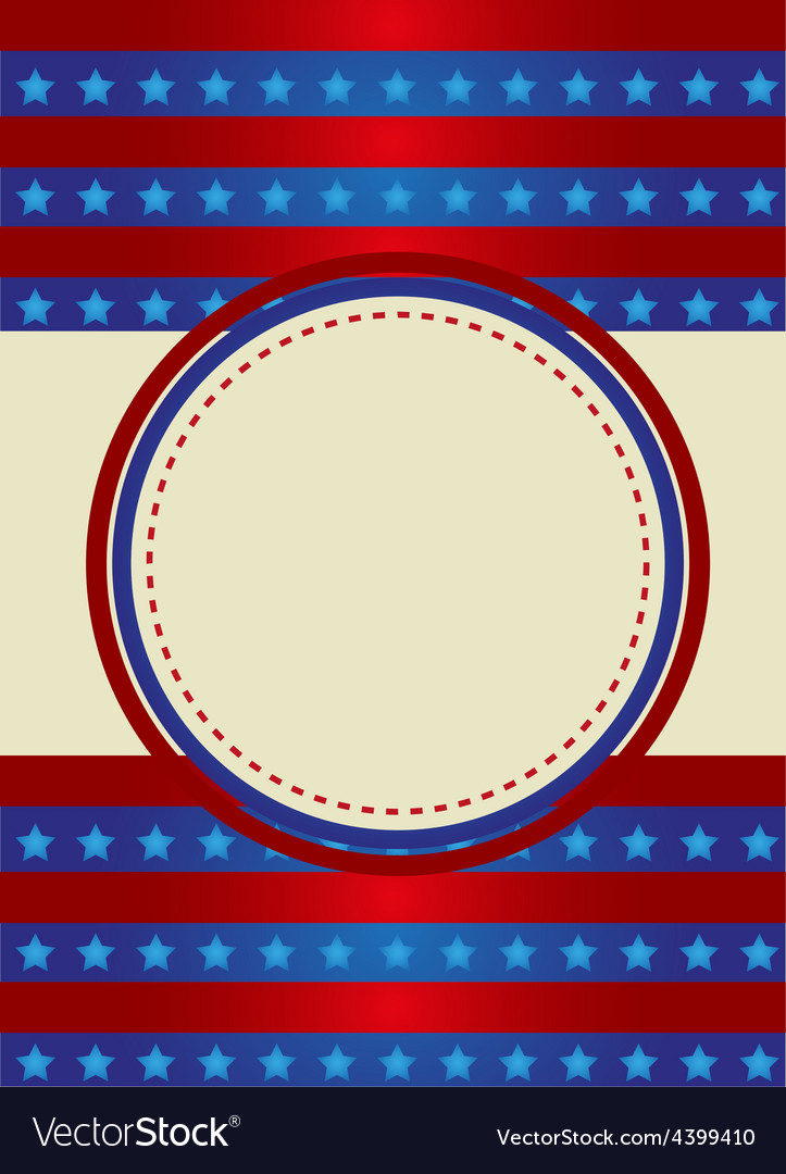 Patriotic frame border vector