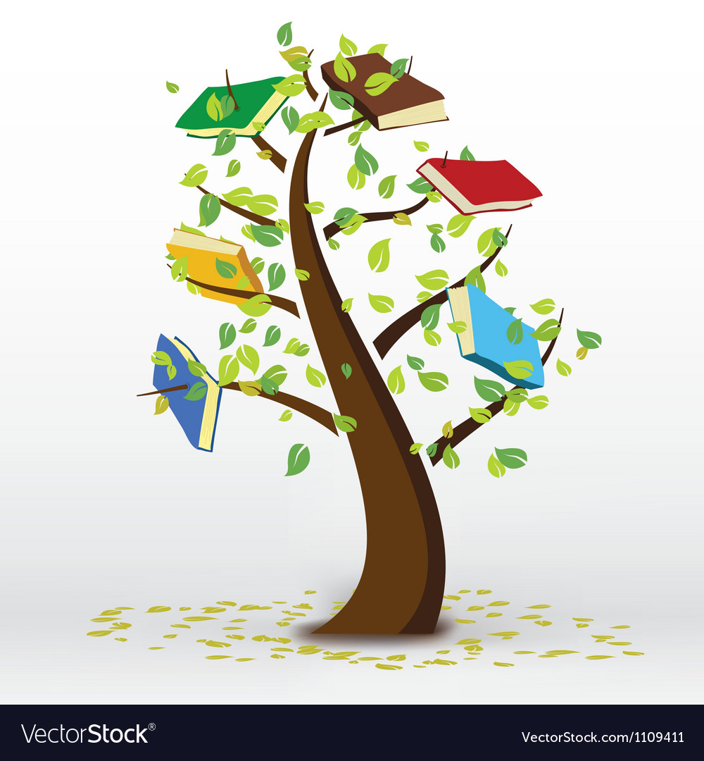 Book tree vector