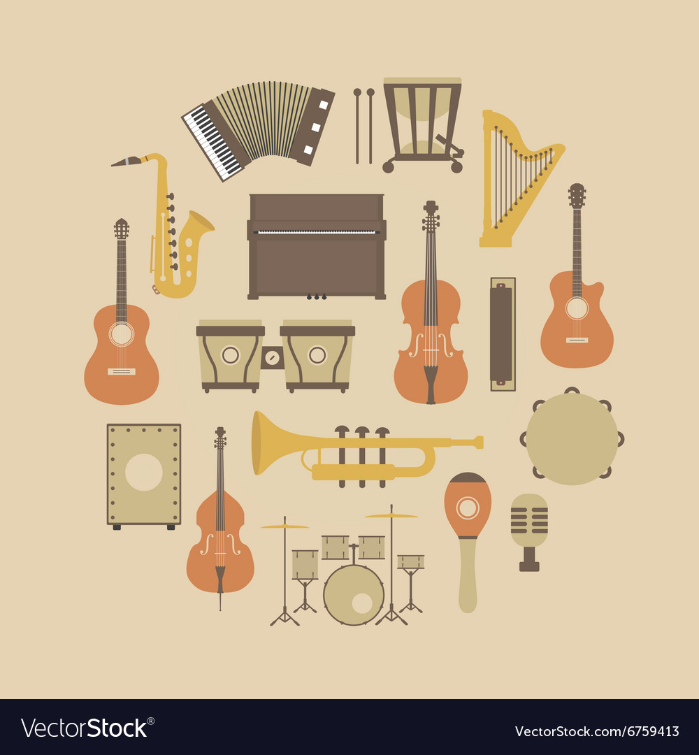160music instrument vector