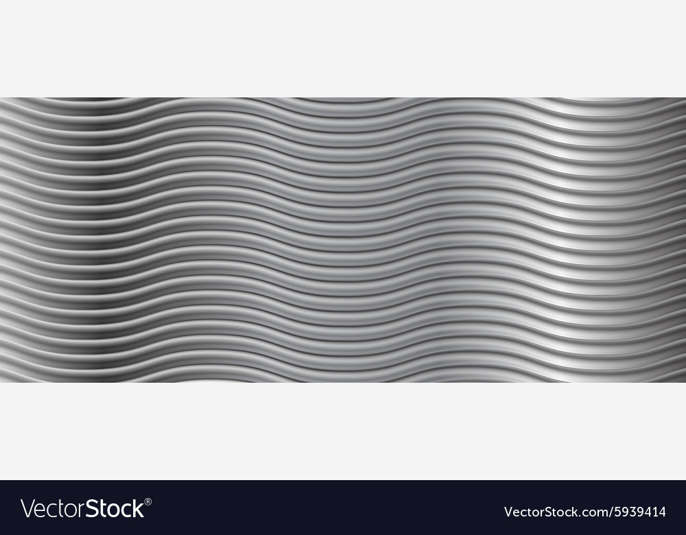 Abstract metallic wavy stripes background vector