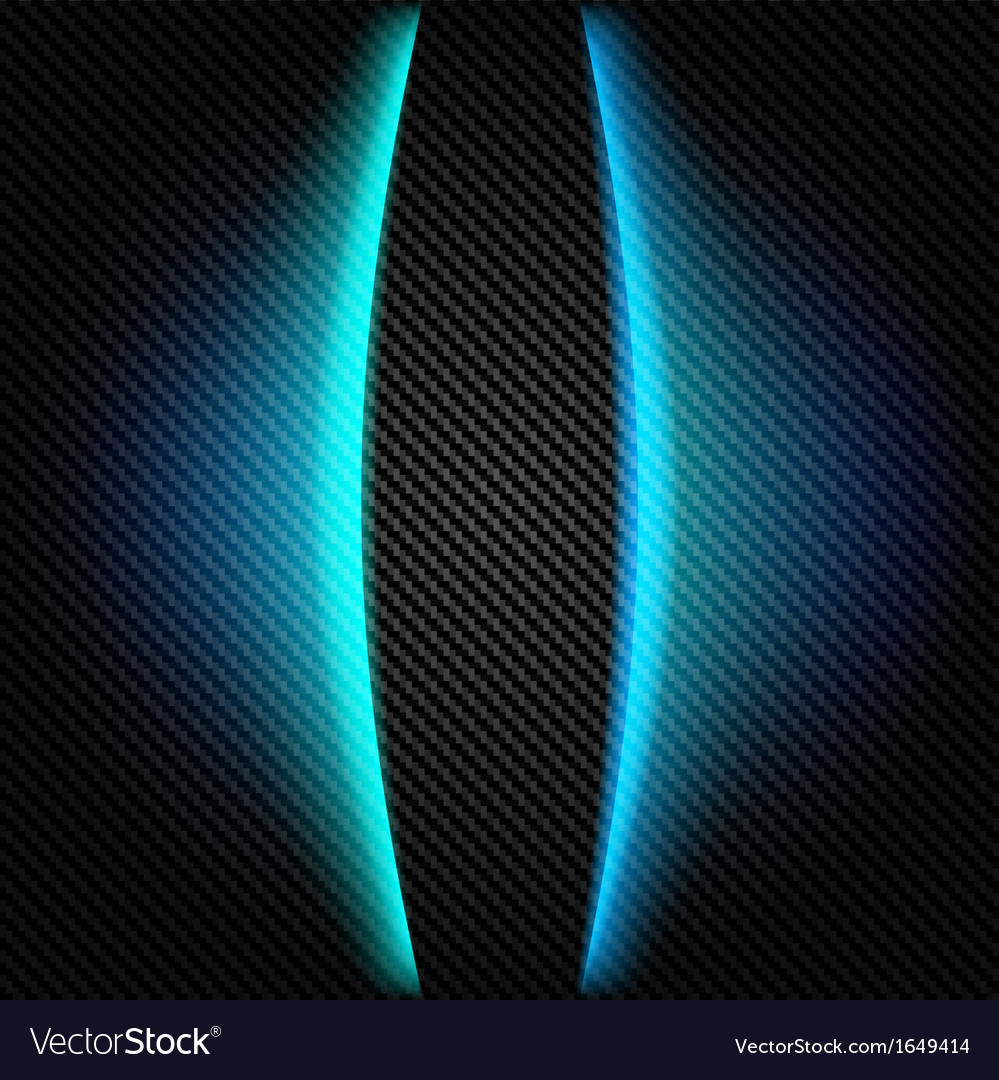 Metallic background with carbon texture and lines vector
