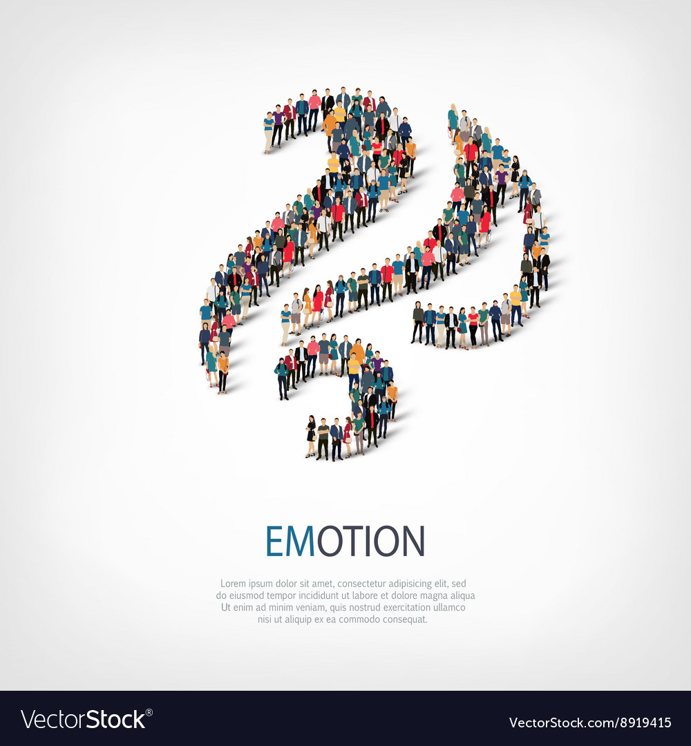 Emotion people sign 3d vector