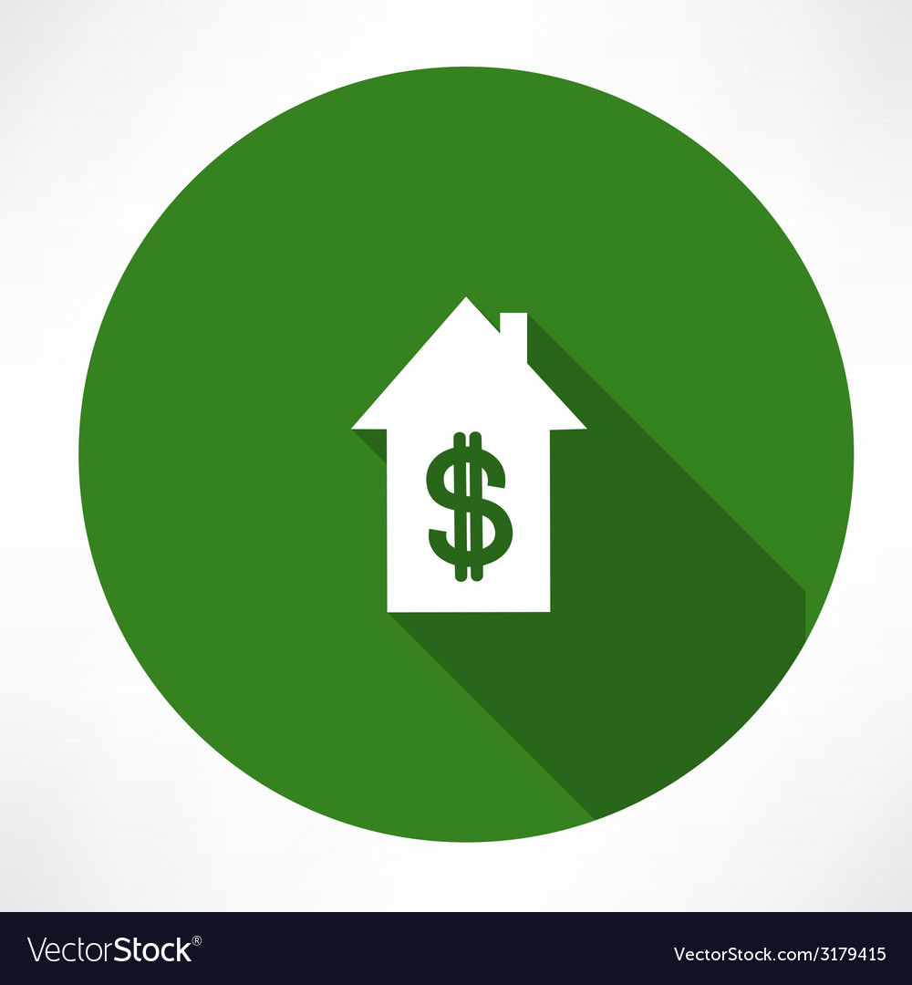 House and dollar vector