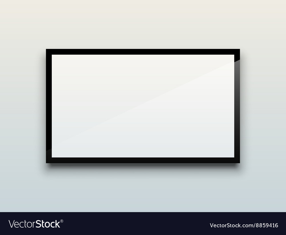 Blank tv screen vector