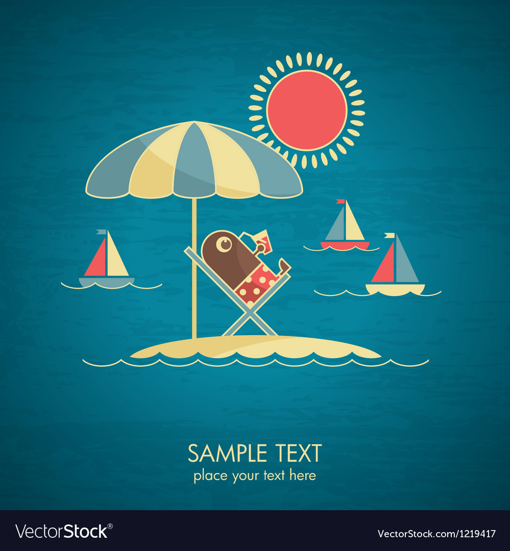 Vacations card vector