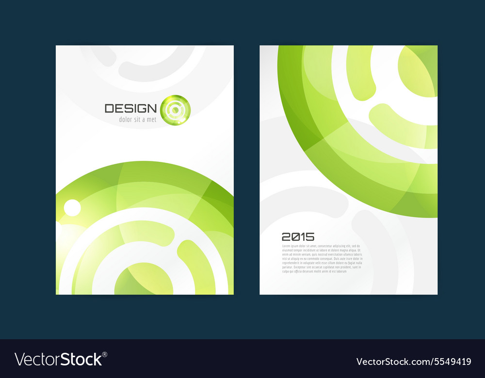 Brochure template abstract design and vector
