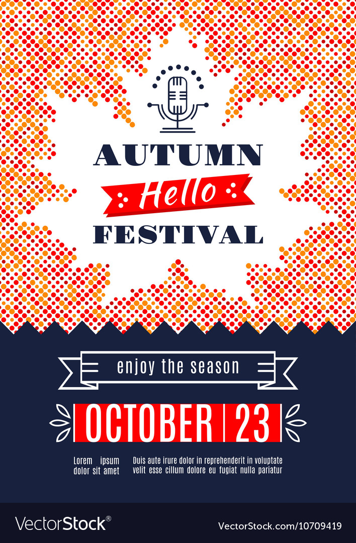 Fall festival template posters a4 background maple vector