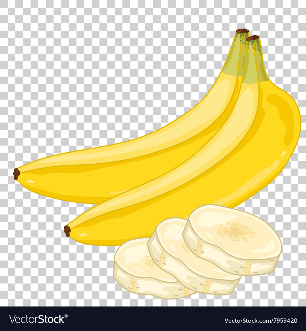 Banana isolated vector