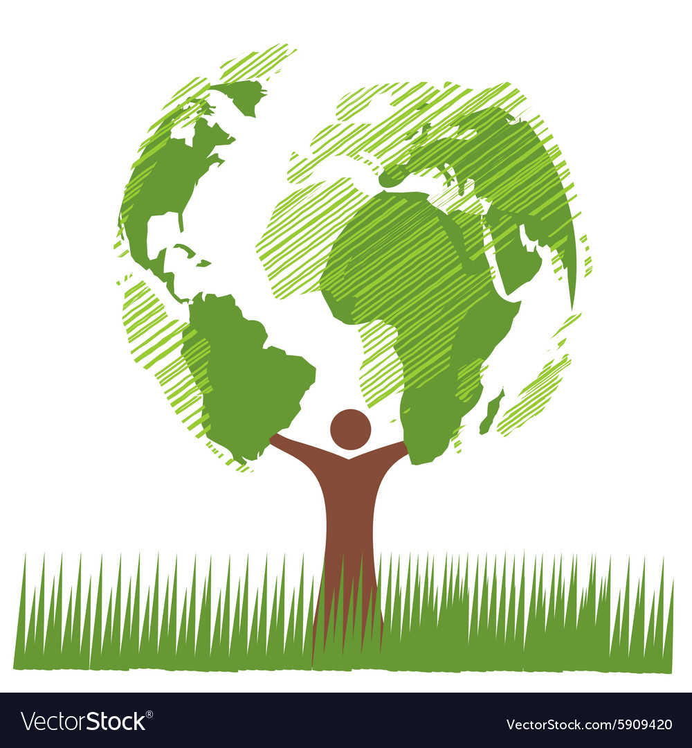 World green vector
