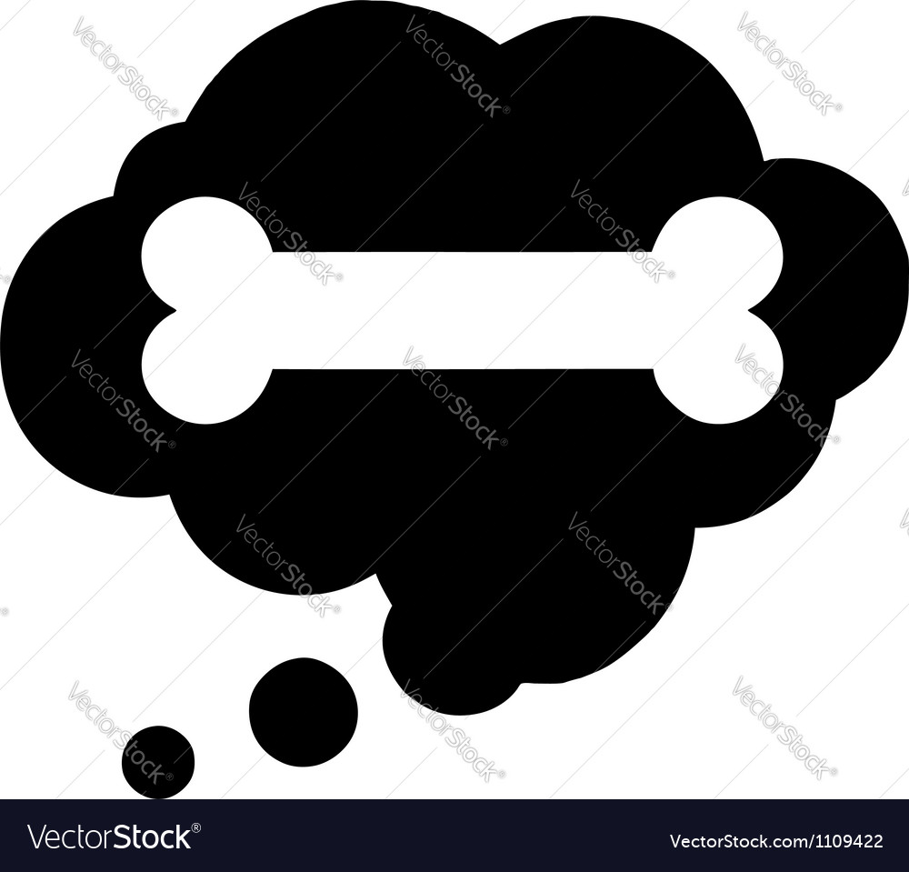 Dreeam speech bubble with dog bone vector