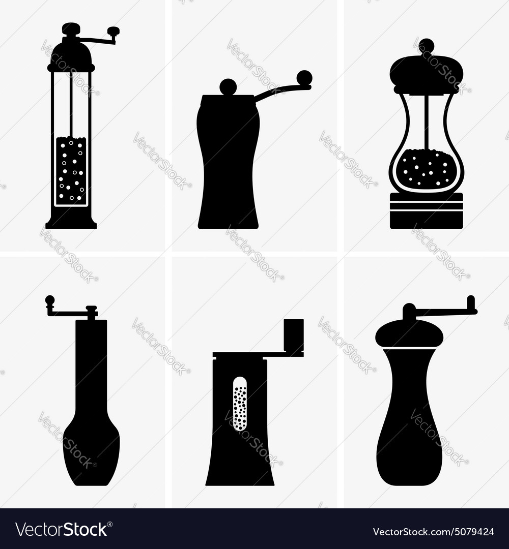 Spice mill vector
