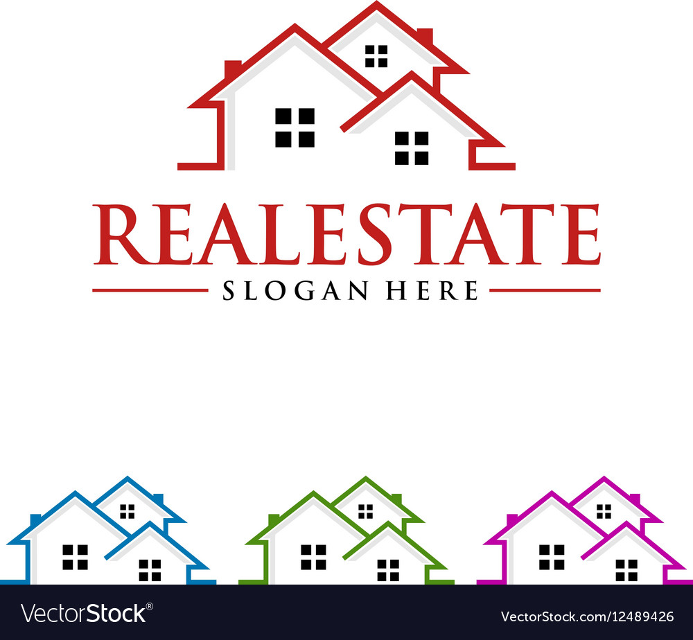 Real estate logo design realty logo vector
