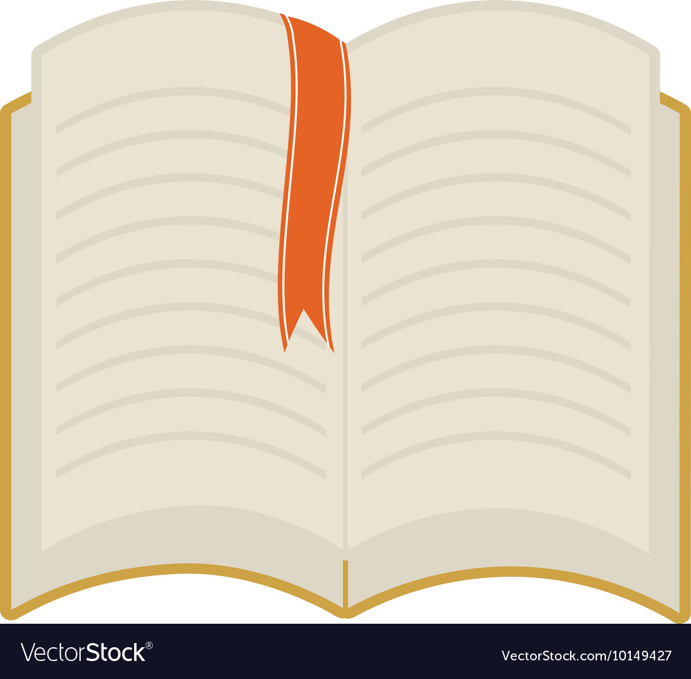 Book ribbon reading learning icon graphic vector