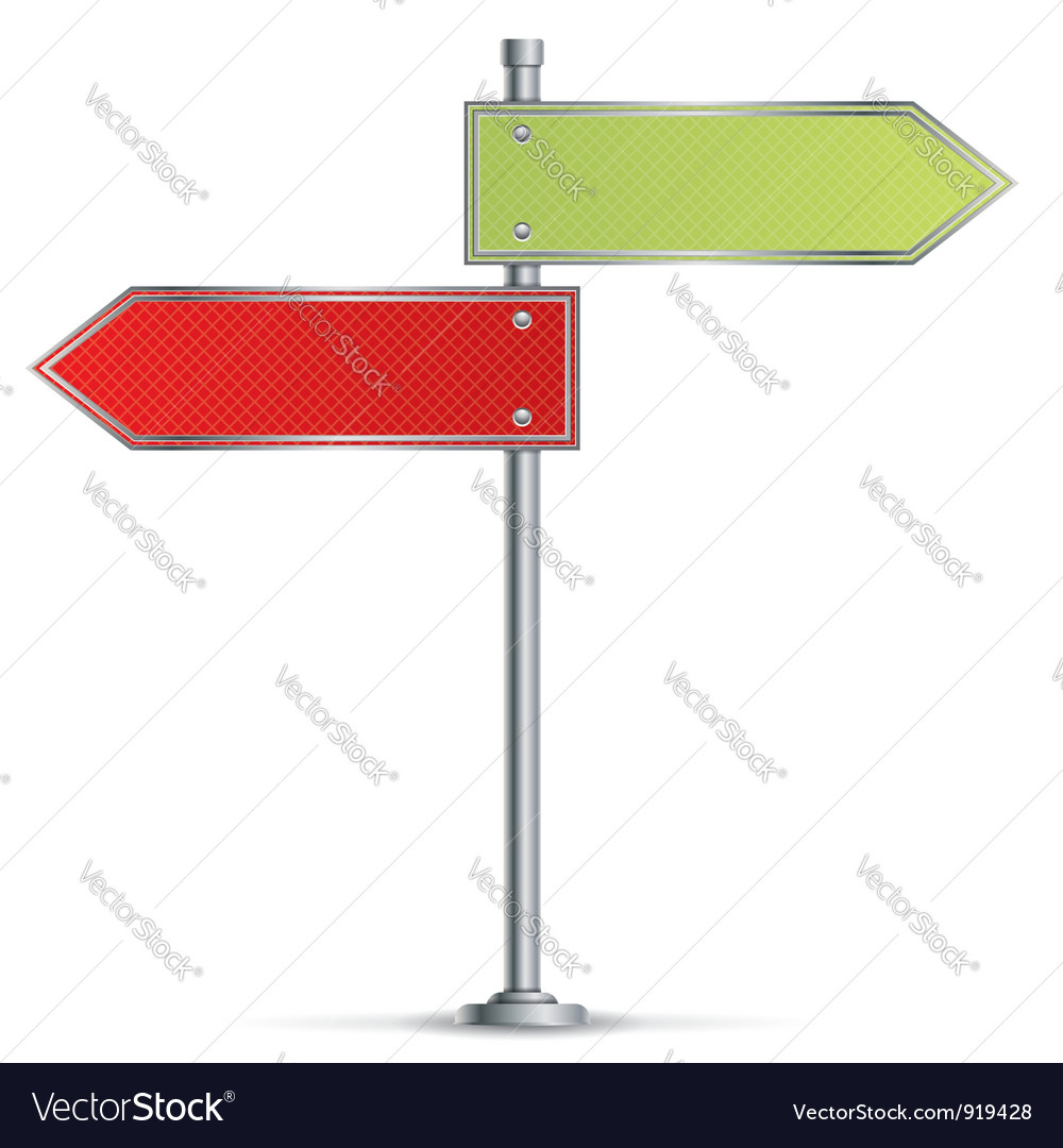 Pole with road signs vector
