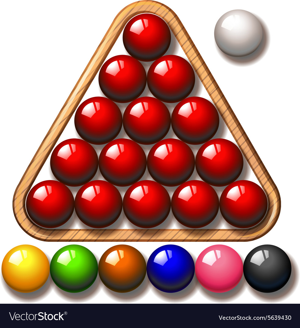 Snooker balls in triangle frame vector