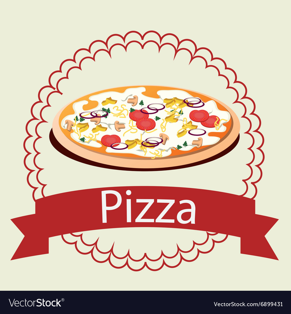 Pizza italian food vector
