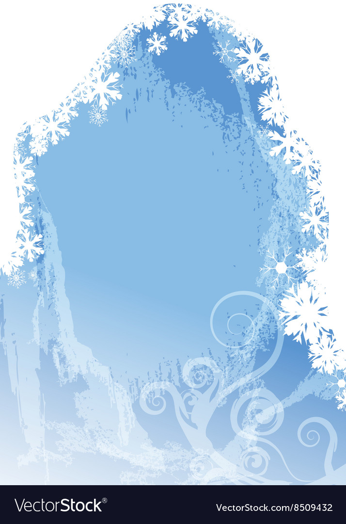 Frozen christmas background vector