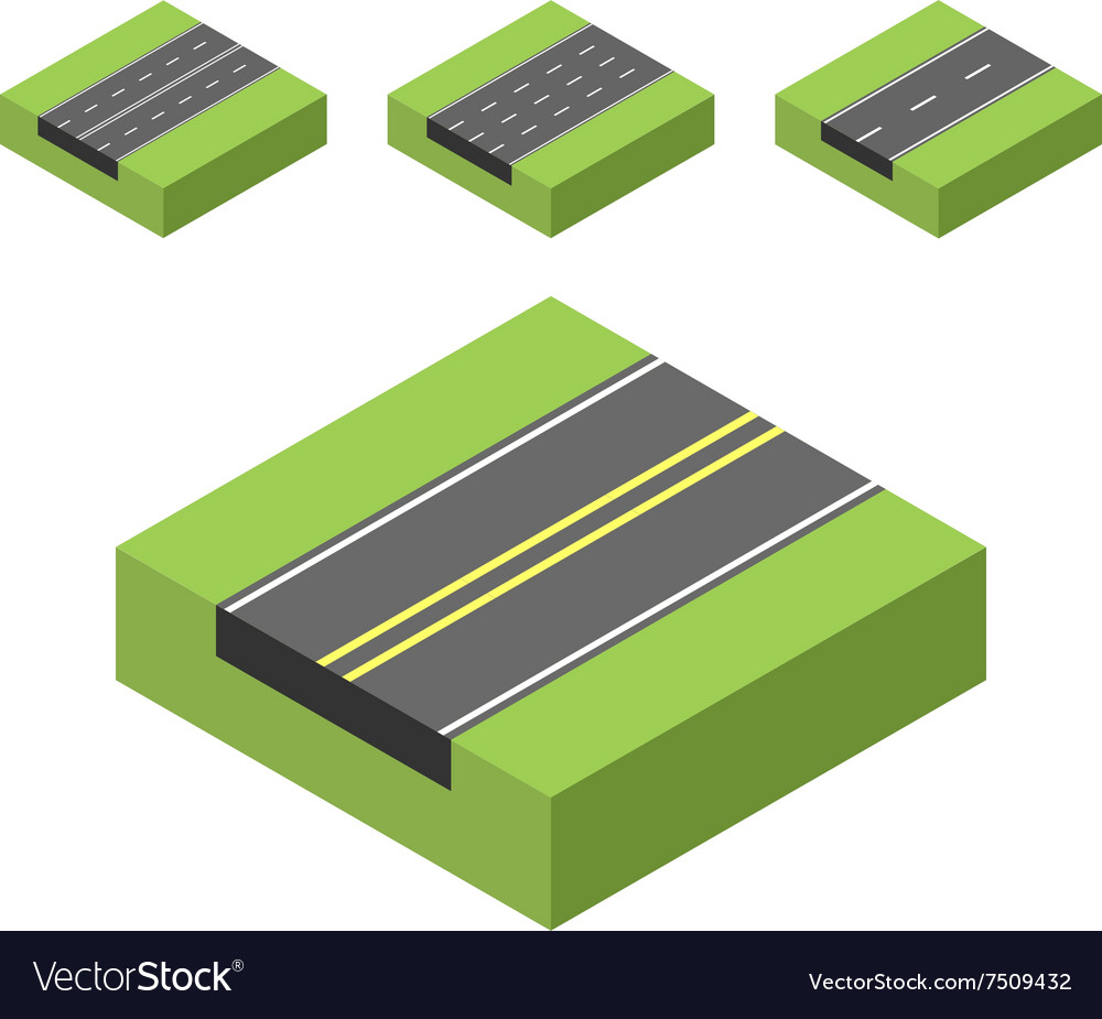 Isometric road  01 vector