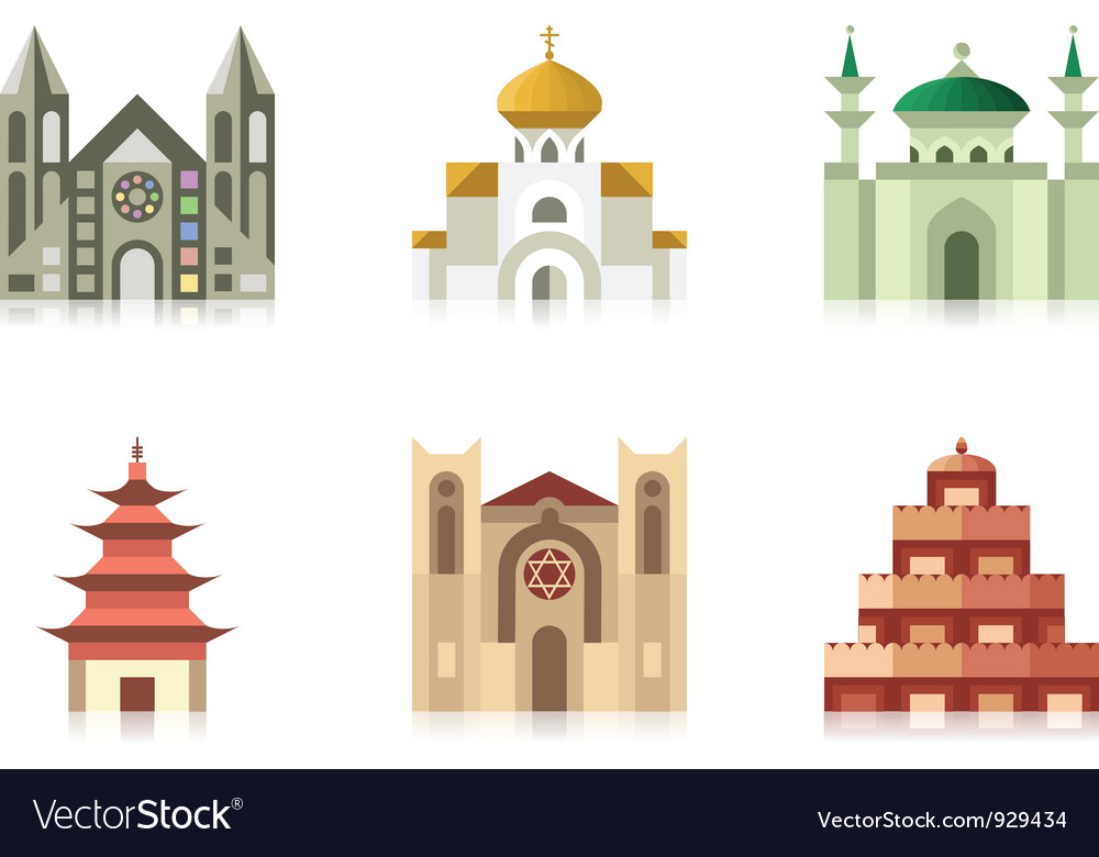 Temples vector