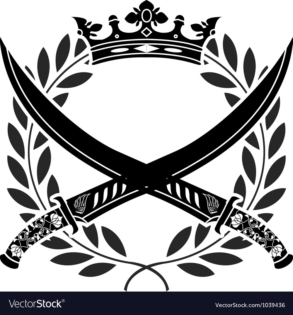 Military glory stencil vector