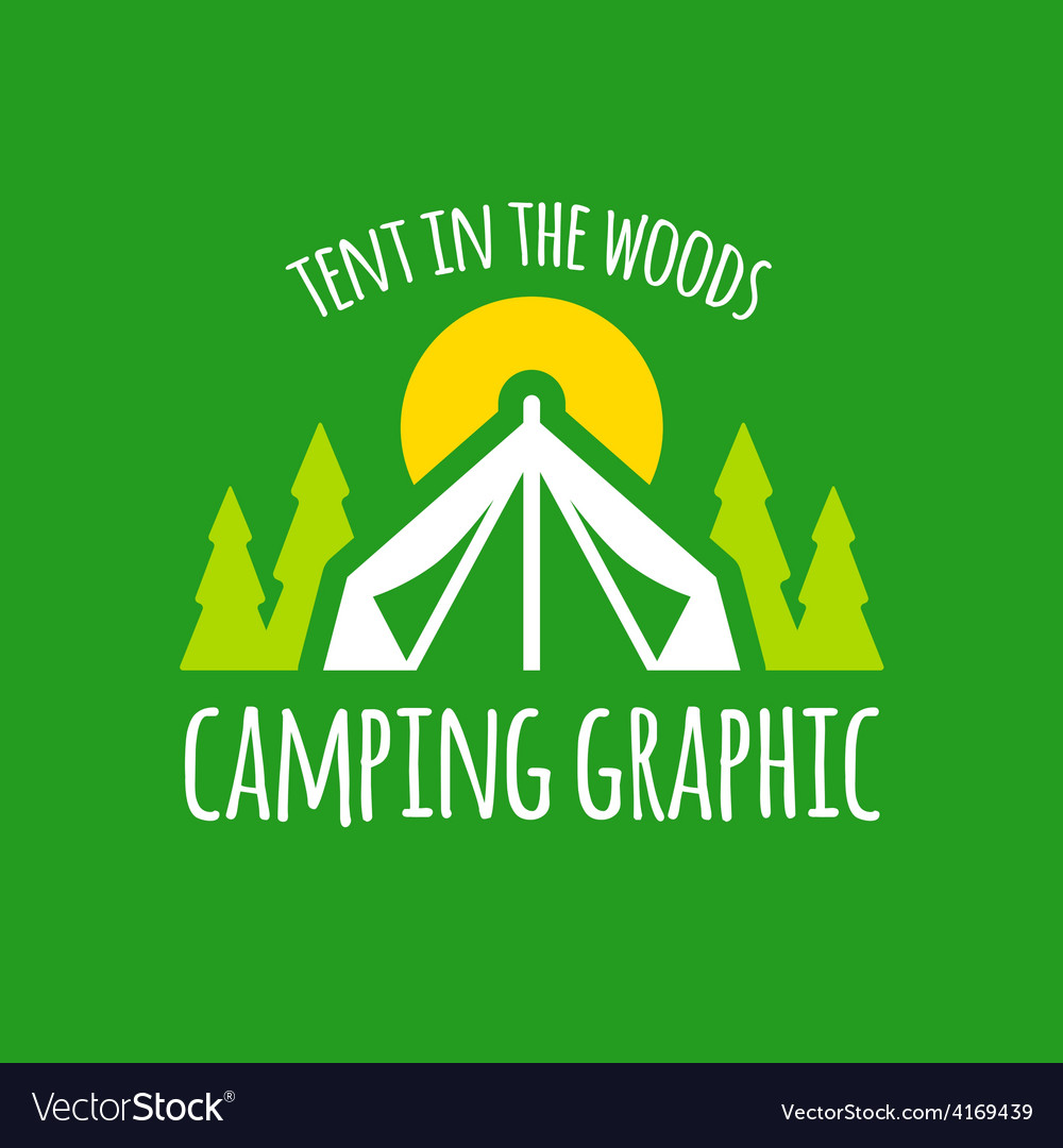 Camping tent graphic vector