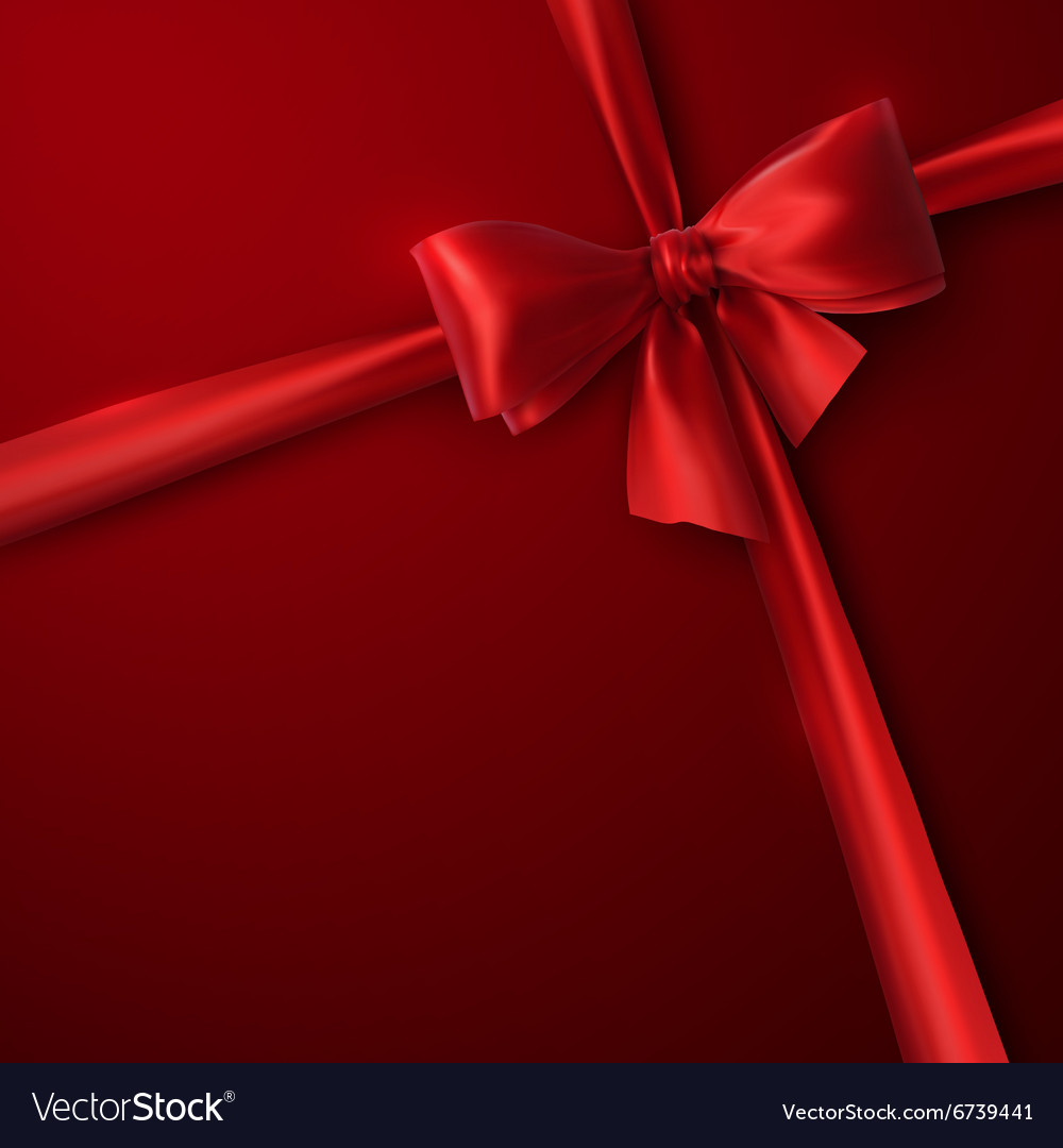 Red bow and ribbon vector