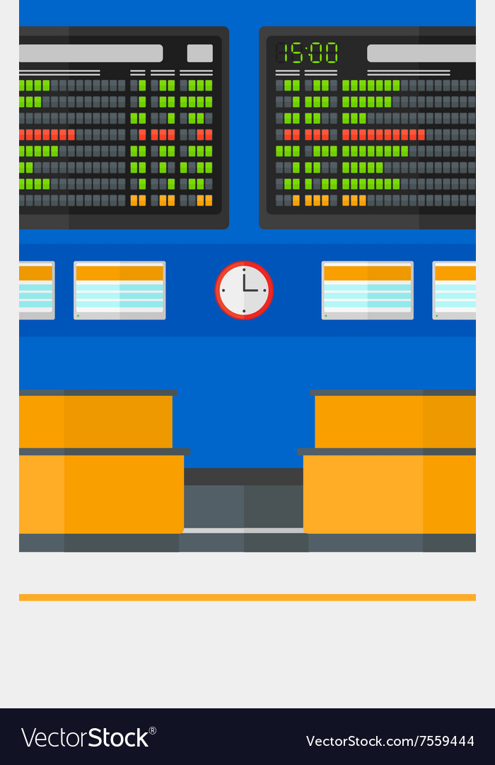 Background of schedule board in airport vector