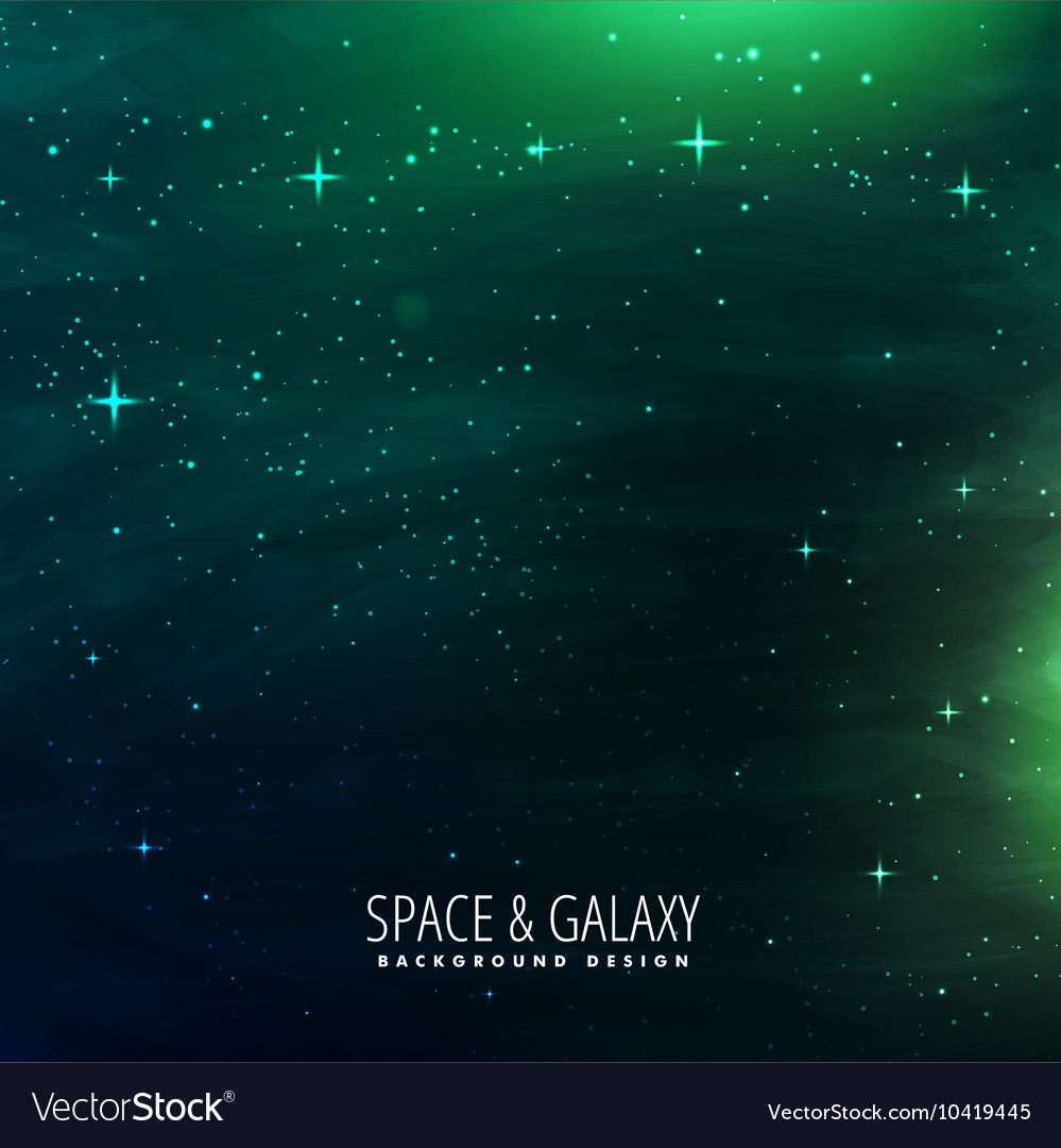 Space background with green lights vector