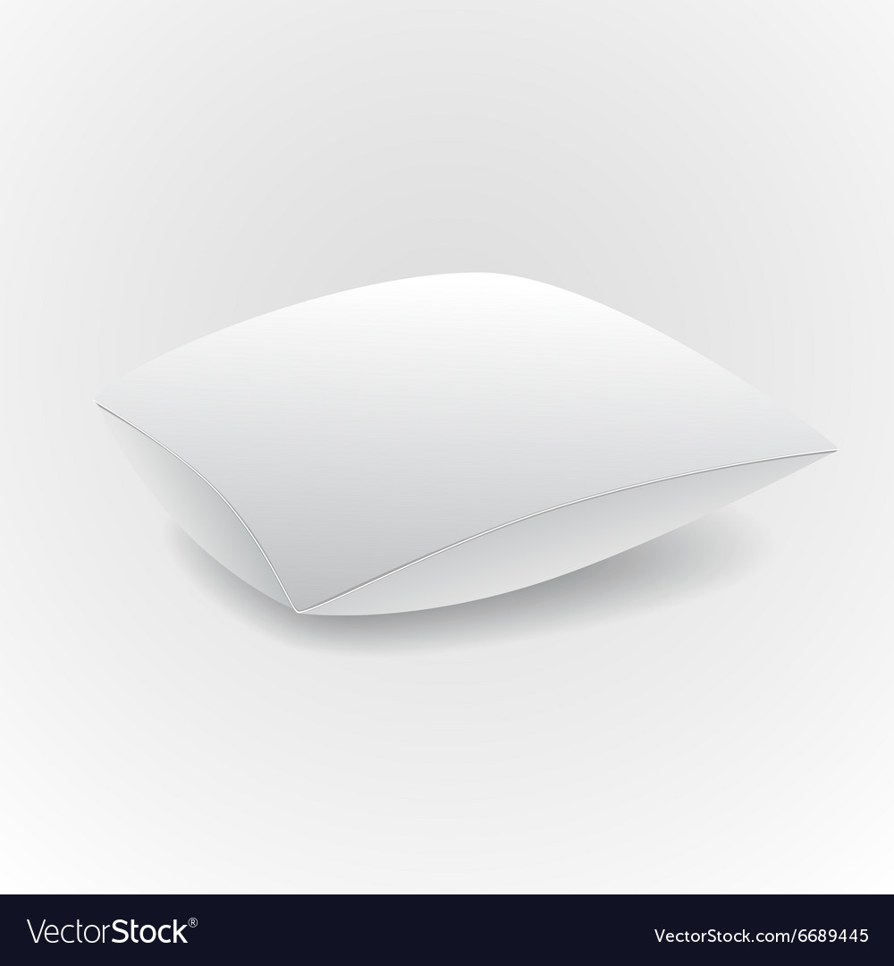 White pillow isolated on grey background vector