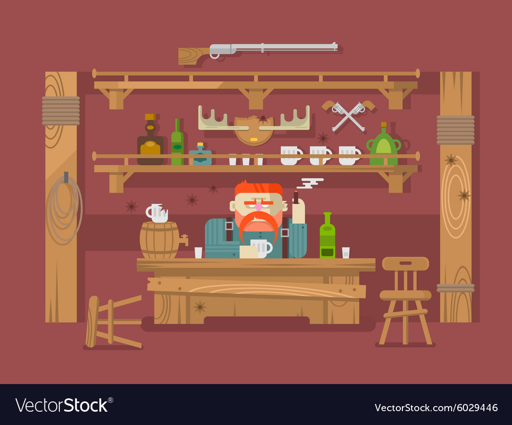 Interior of the bar vector