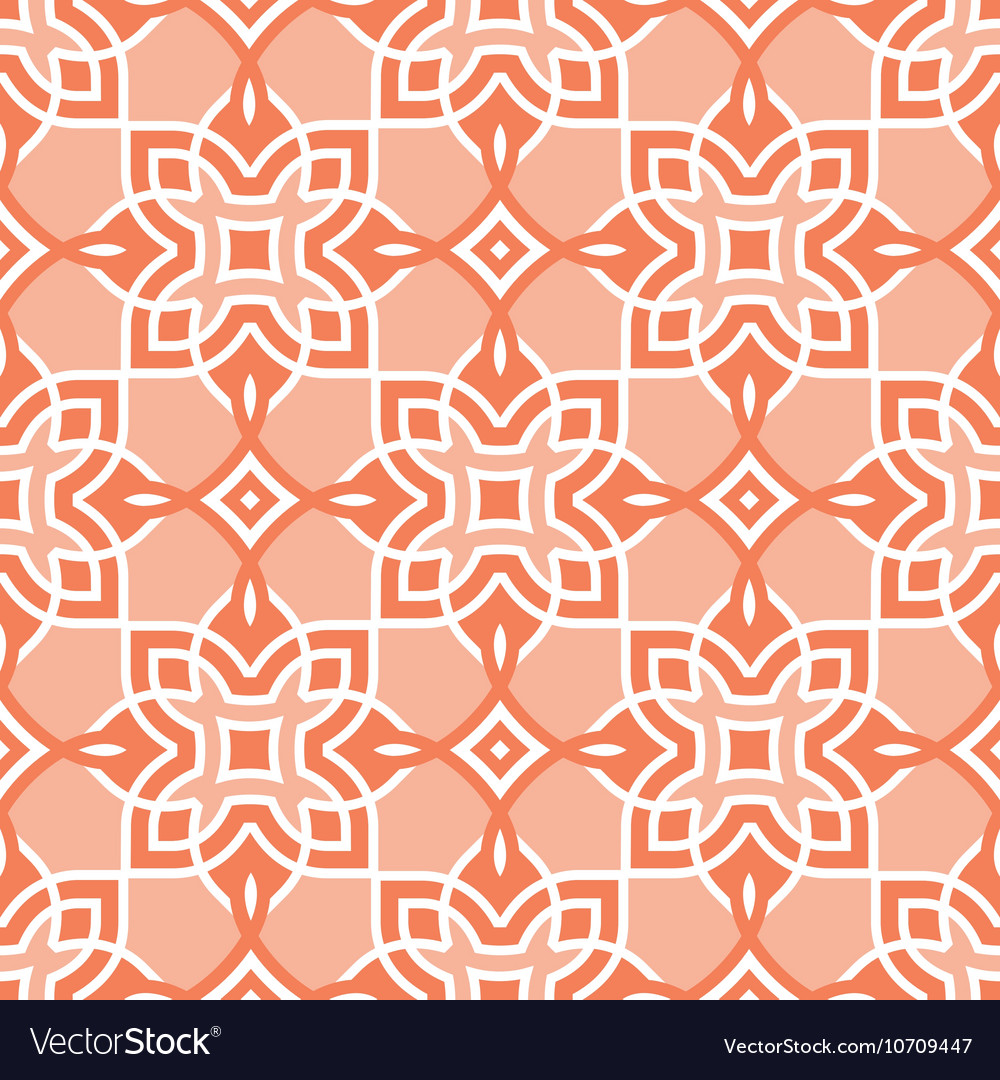 Peach seamless pattern arabic vector