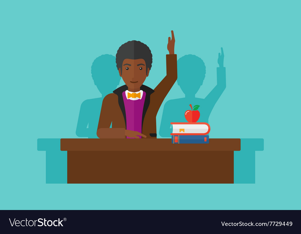 Man raising his hand vector