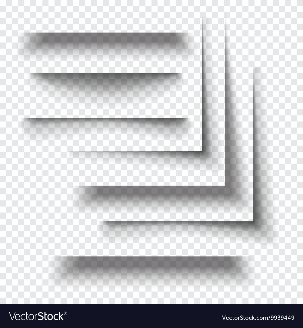 Transparent realistic paper shadow effects vector