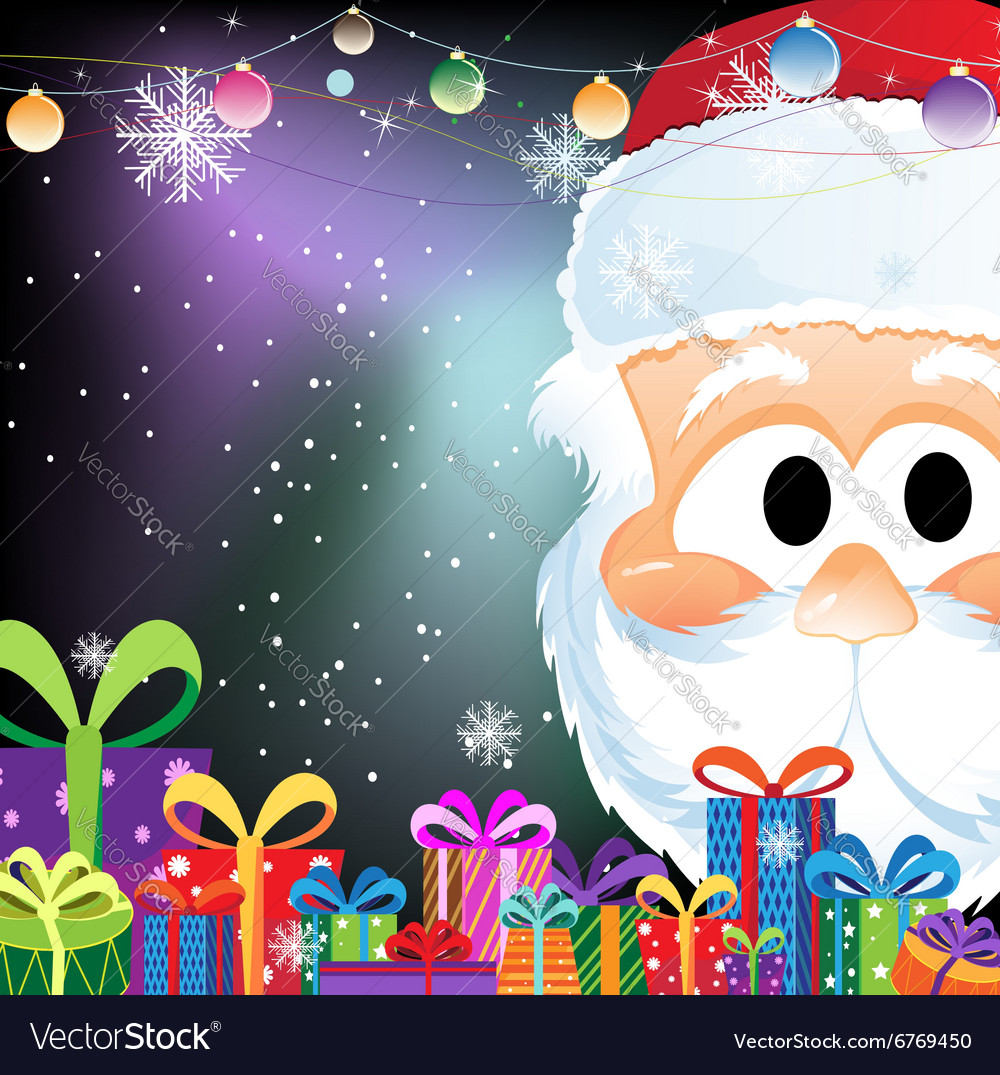Santa claus and gift boxes vector