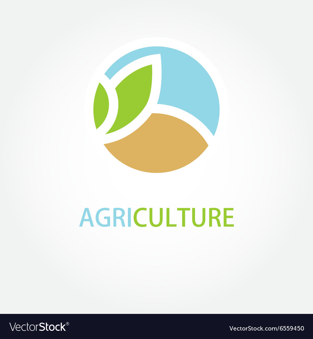 Sign organic farming greengrocer vector