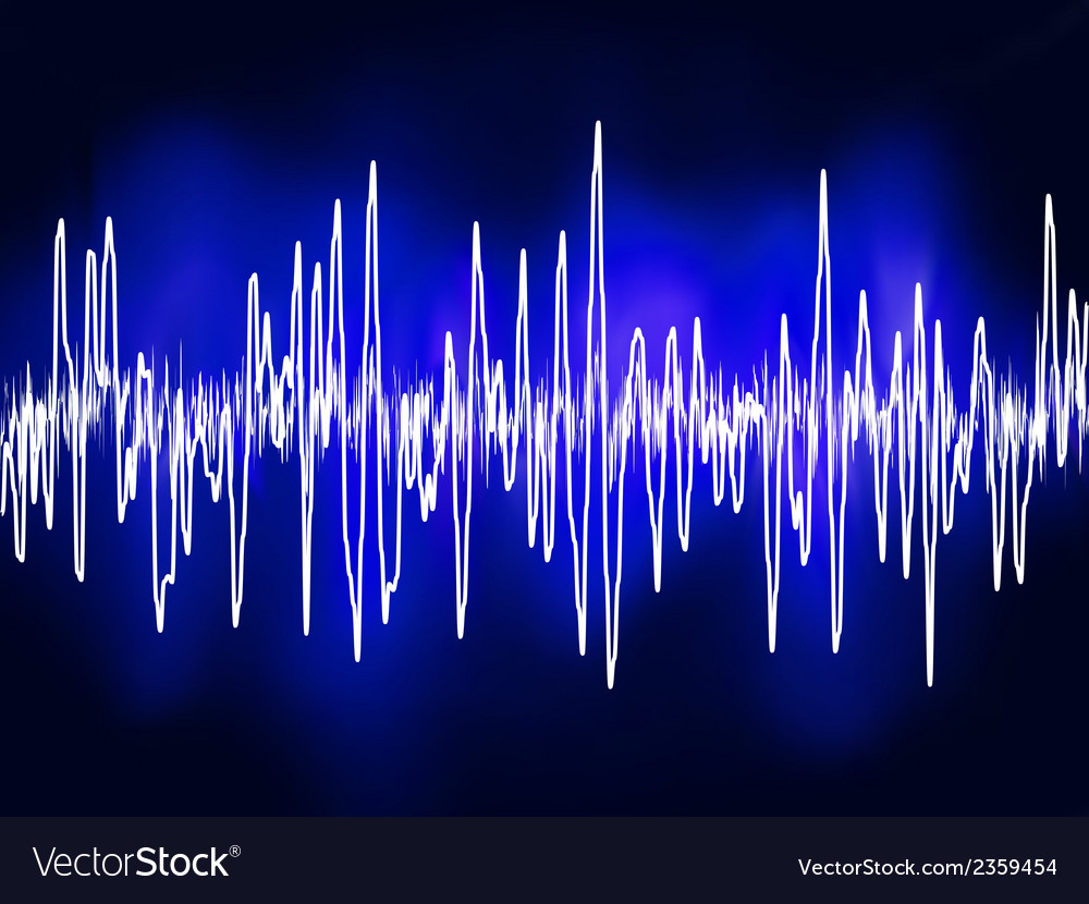 Electronic sine sound or audio waves eps 8 vector