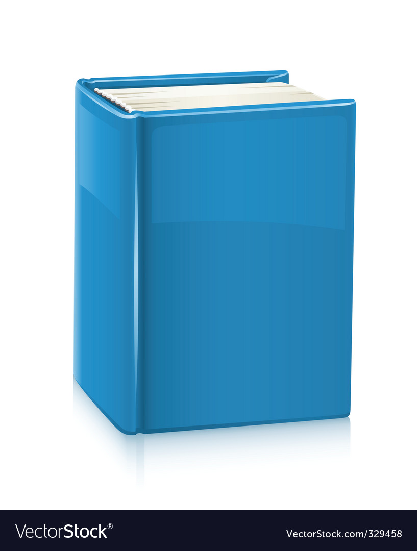 Book with blue cover vector