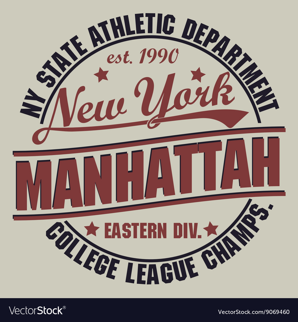 New york sport tshirt graphics vector