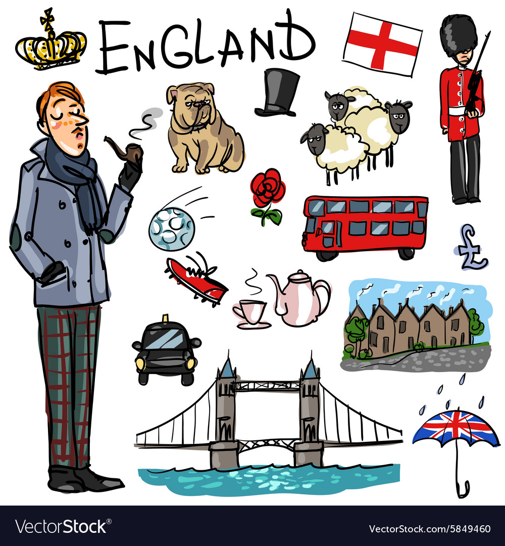 Travelling attractions  england vector