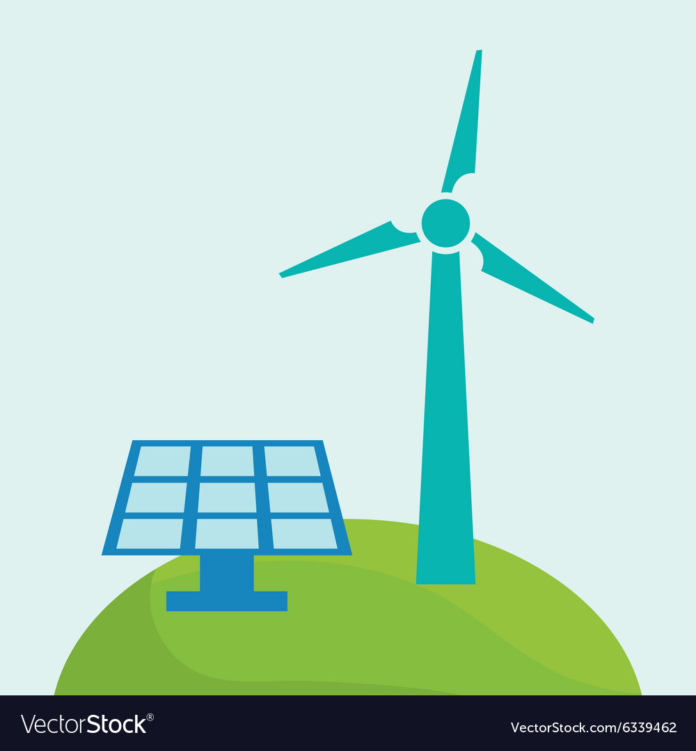Green ecology energy vector