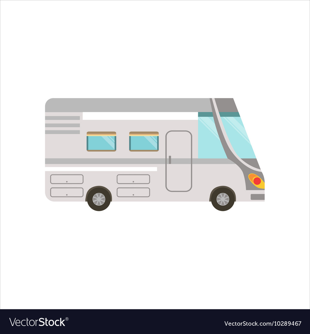 Grey stripy travel van vector