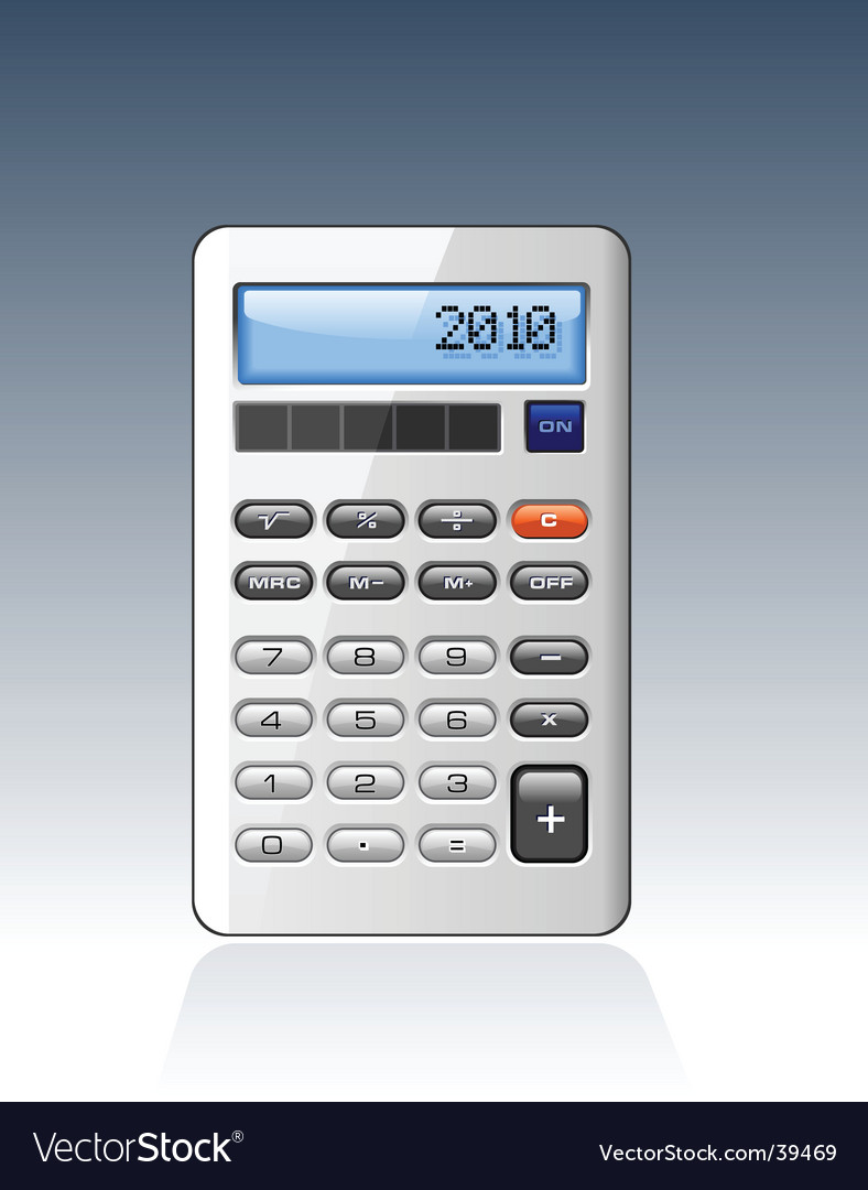 Silver calculator vector