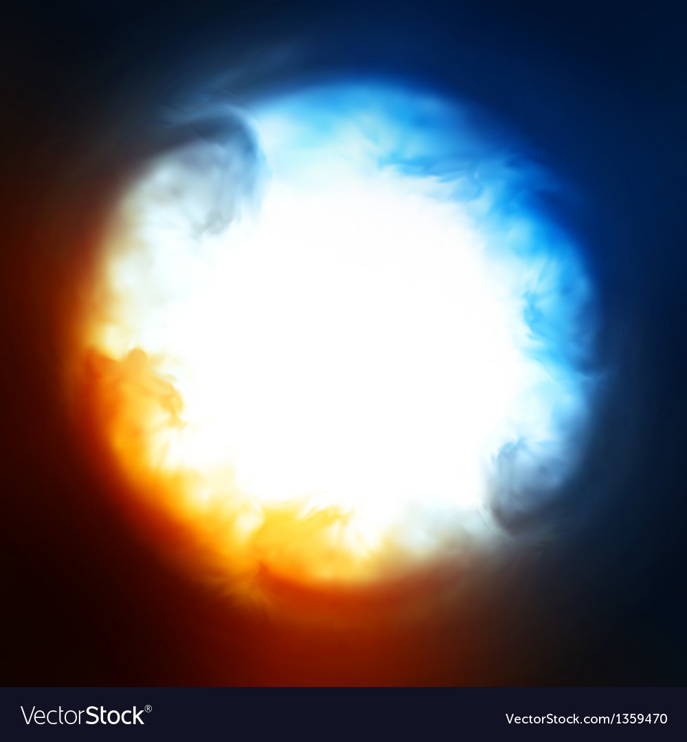 Abstract background explosion in the sky vector