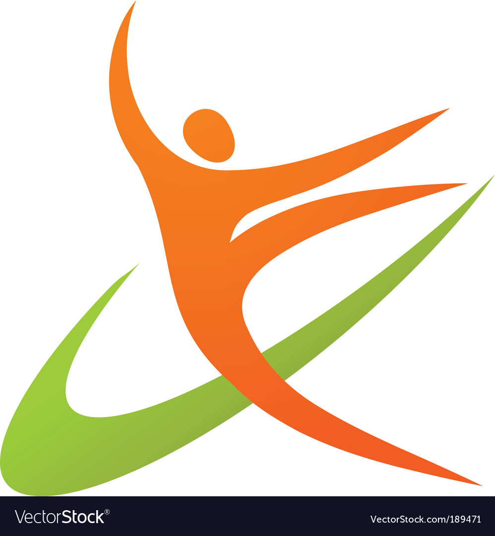 Dancing or sport logo vector