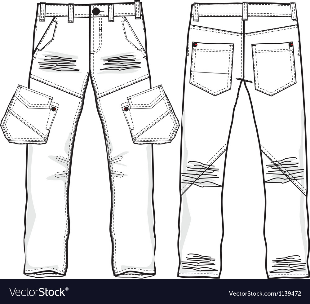Denim trousers vector